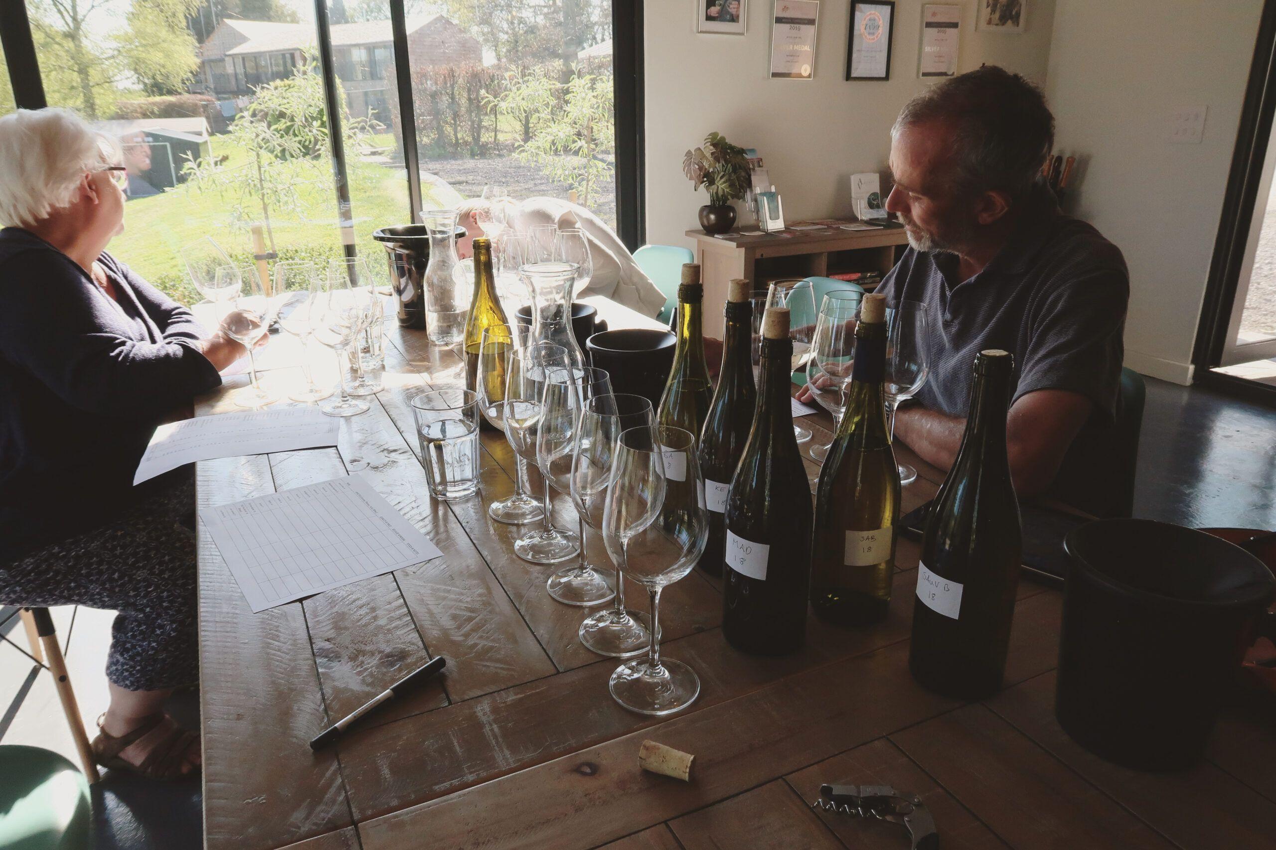 Astley Vineyard - blending